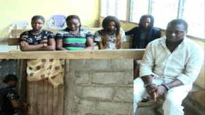 Photo: Cameroon police foils plot by notorious trafficker to send 4 Nigerian girls to Russia to work as prostitutes